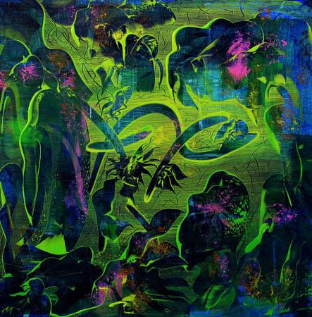 Fargenes lagune II 60x60 cm