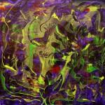 Fiolett lagune 80x80 cm Solgt
