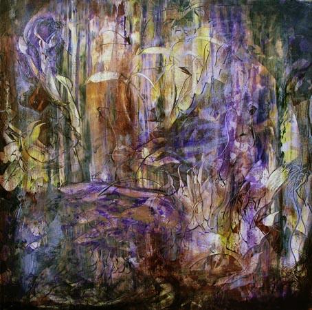 Fiolette nyanser 80x80 cm