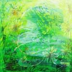 Grønne nyanser II 80x80 cm