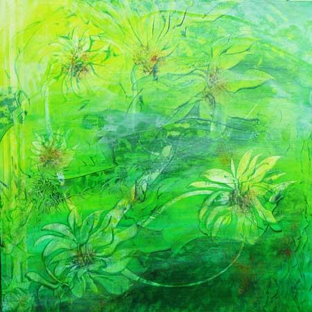 Grønne nyanser 80x80 cm