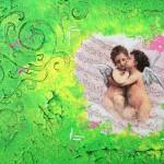 Kjærlighetens engler 40x30 cm