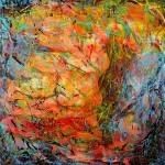 Lys i jungelen II 50x50 cm Solgt