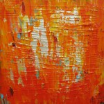 Oransje hav 50x50 cm Solgt