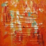 Oransje hav II 30x30 cm