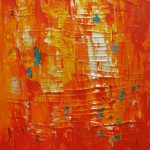 Oransje hav III 60x60 cm Solgt