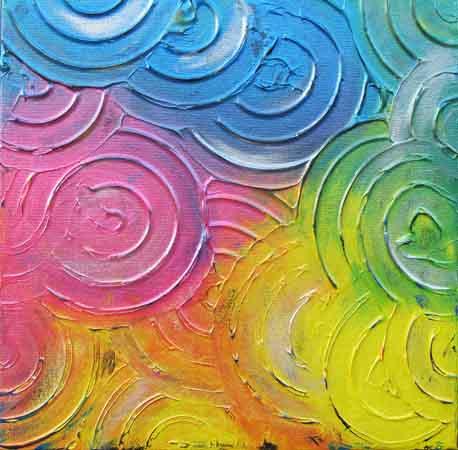 Uendelighetens farger 40x40 cm
