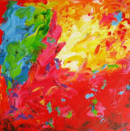 Regnbuedalen II 50x50 cm Solgt