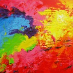 Regnbuedalen 100x120 cm