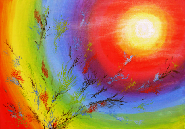 Regnbuelys 70x100 cm