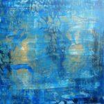 Den blå lagune 80x80 cm