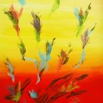 Regnbueblomster 70x100 cm