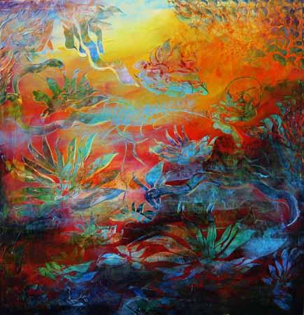 Inspirasjon II 120x120 cm