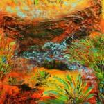 Desert Flowers II 100x100 cm